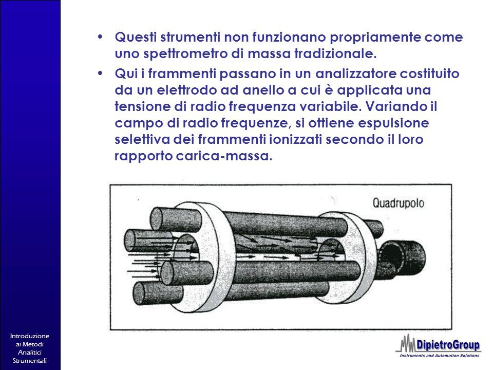 Questi strumenti non funzionano propriamente come uno spettrometro di massa tradizionale.