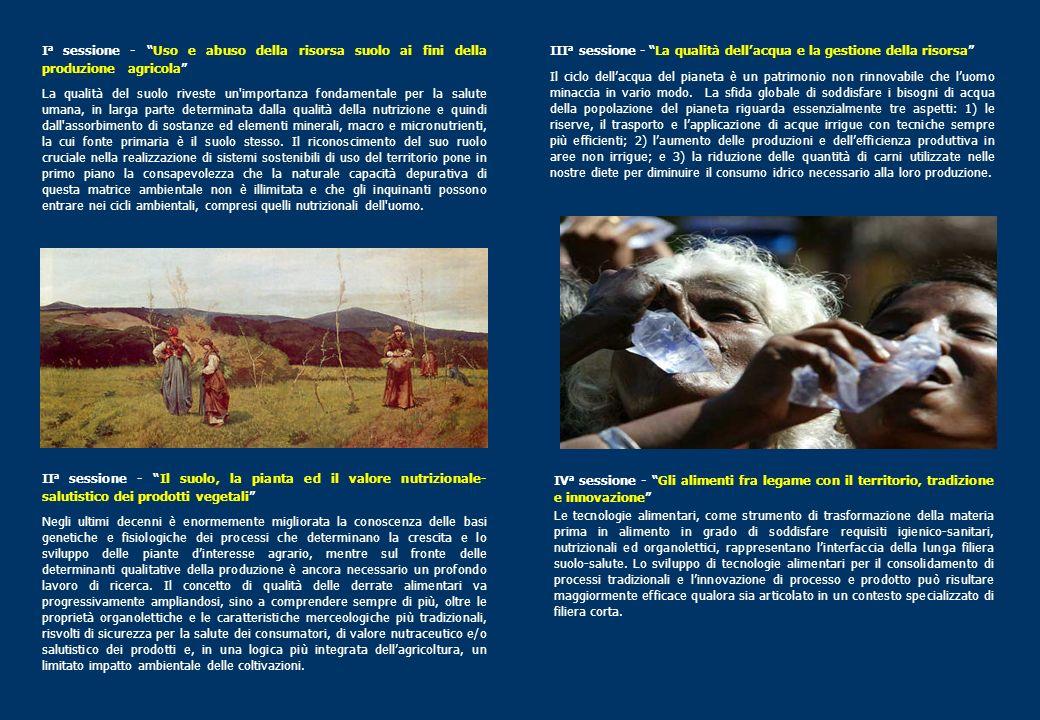 Ia sessione - Uso e abuso della risorsa suolo ai fini della produzione agricola