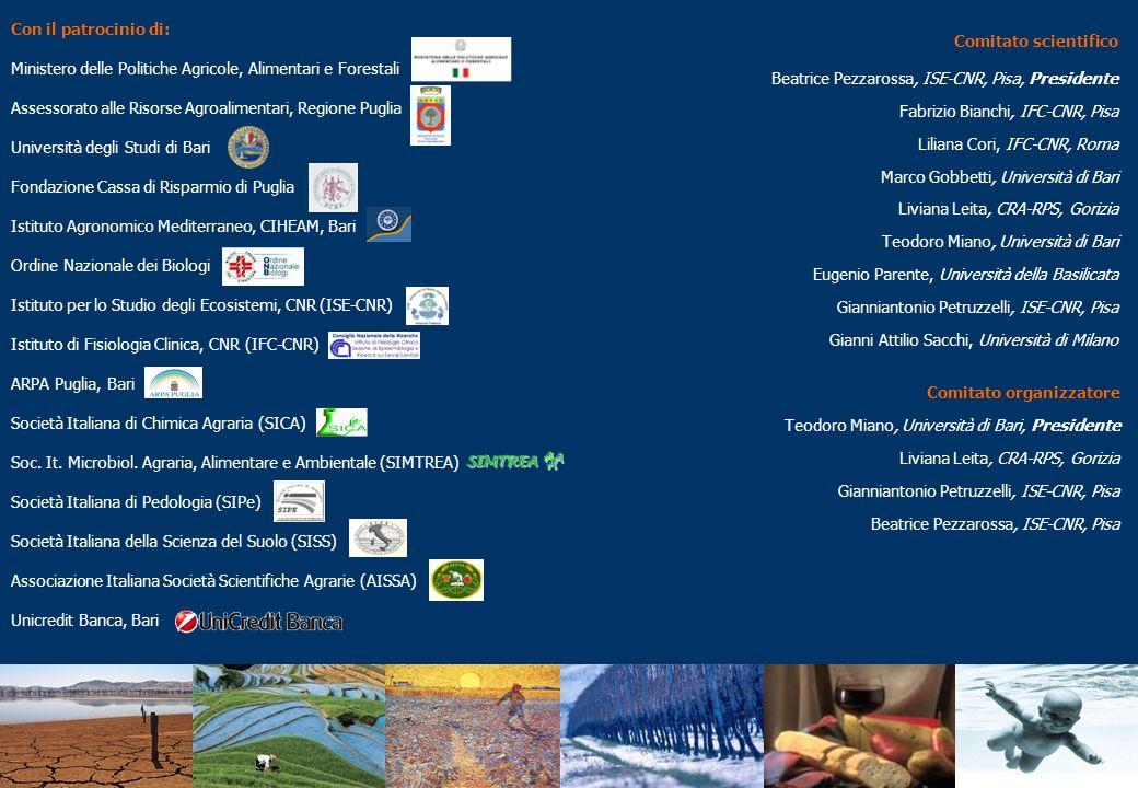 Con il patrocinio di: Ministero delle Politiche Agricole, Alimentari e Forestali. Assessorato alle Risorse Agroalimentari, Regione Puglia.