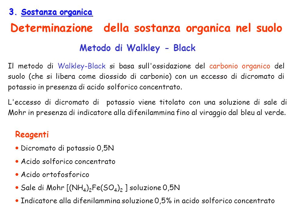 Metodo di Walkley - Black