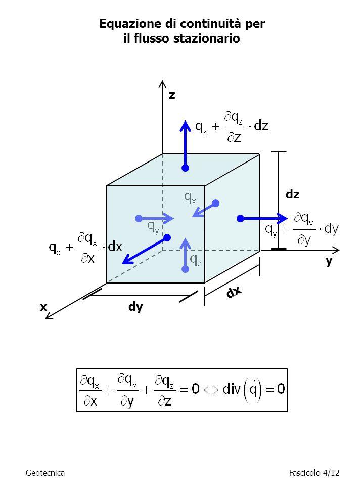 Equazione di continuità per il flusso stazionario
