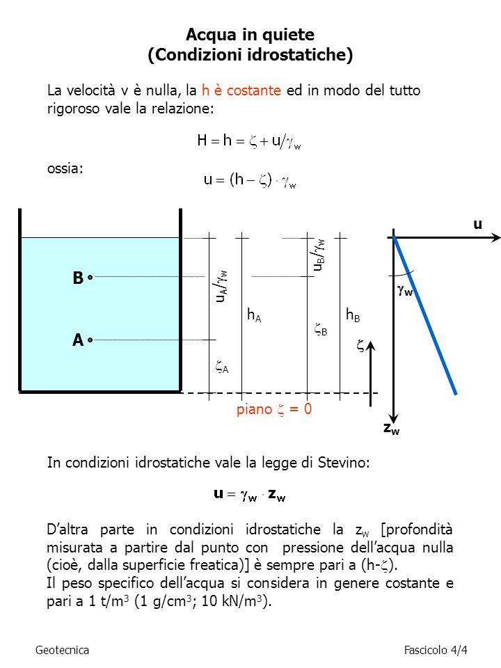 (Condizioni idrostatiche)