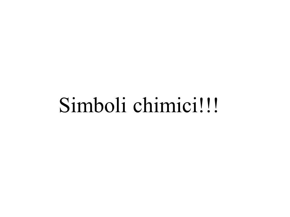 Simboli chimici!!!
