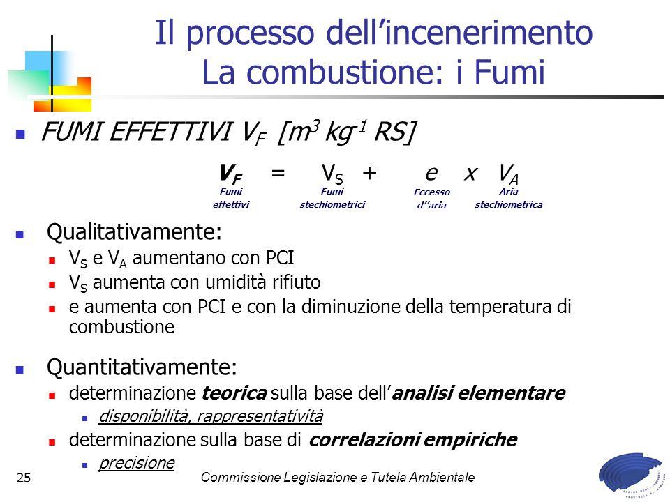 Il processo dell'incenerimento La combustione: i Fumi