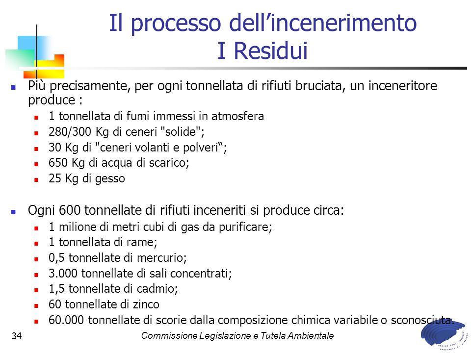 Il processo dell'incenerimento I Residui