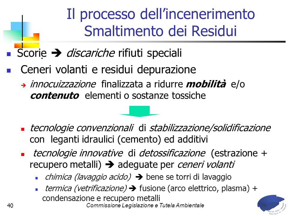 Il processo dell'incenerimento Smaltimento dei Residui