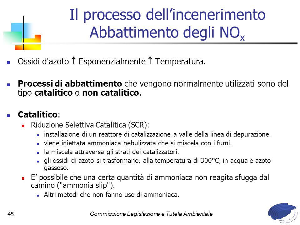 Il processo dell'incenerimento Abbattimento degli NOx