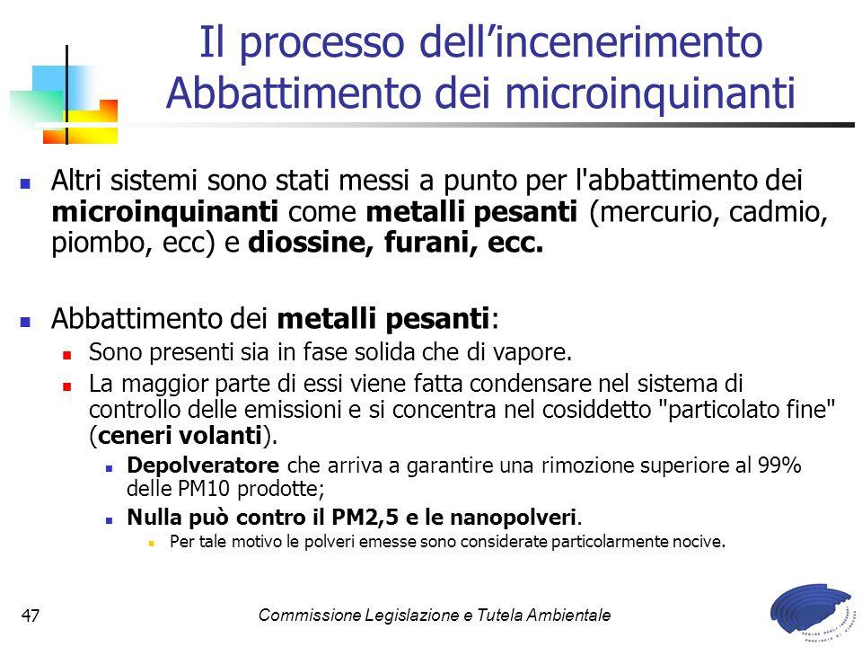 Il processo dell'incenerimento Abbattimento dei microinquinanti