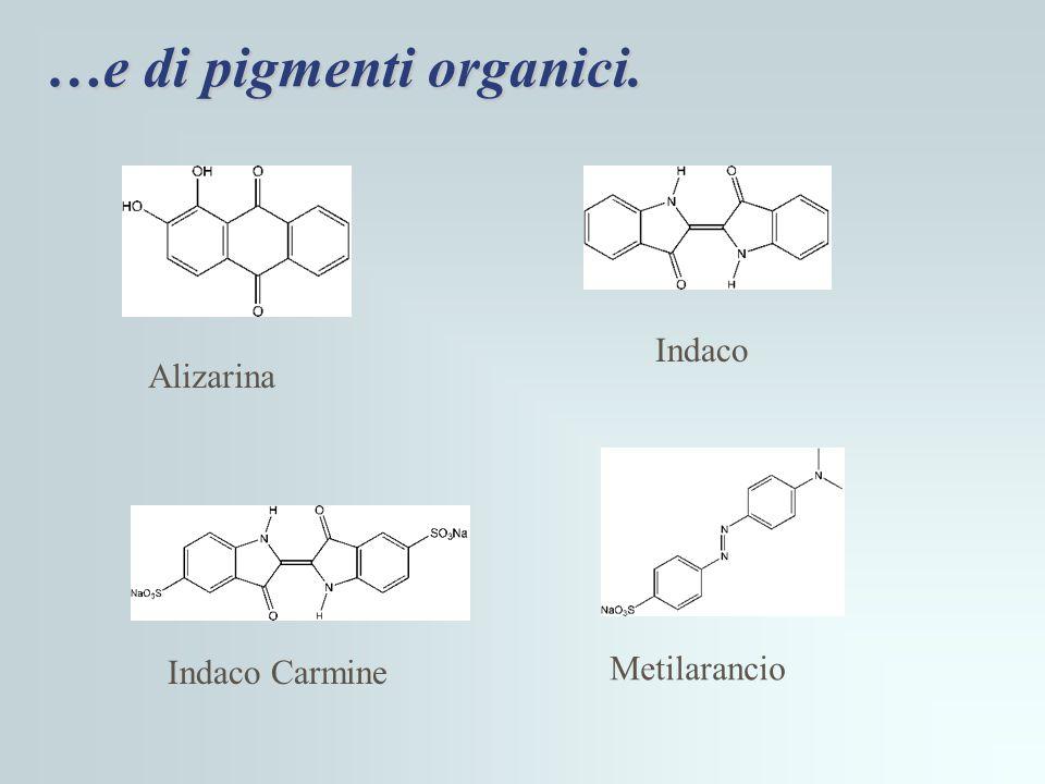 …e di pigmenti organici.