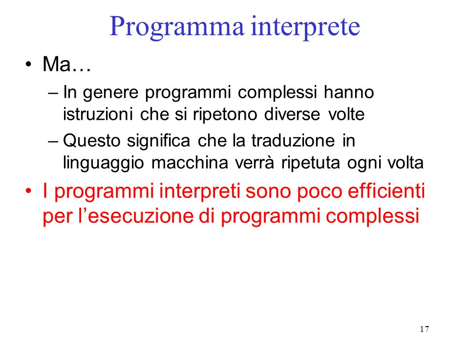Programma interprete Ma…