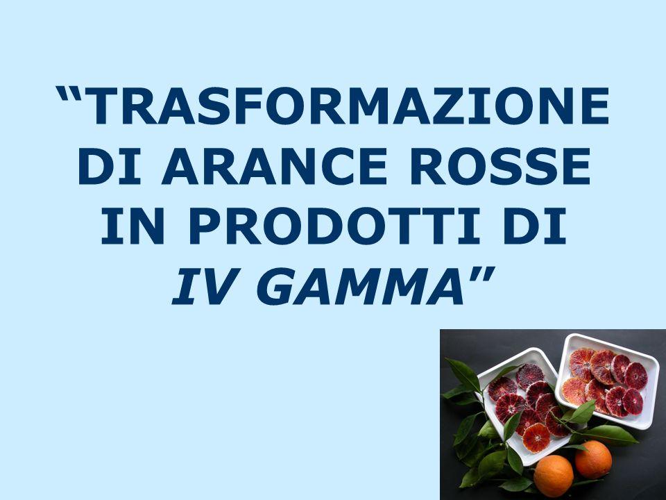 TRASFORMAZIONE DI ARANCE ROSSE IN PRODOTTI DI IV GAMMA