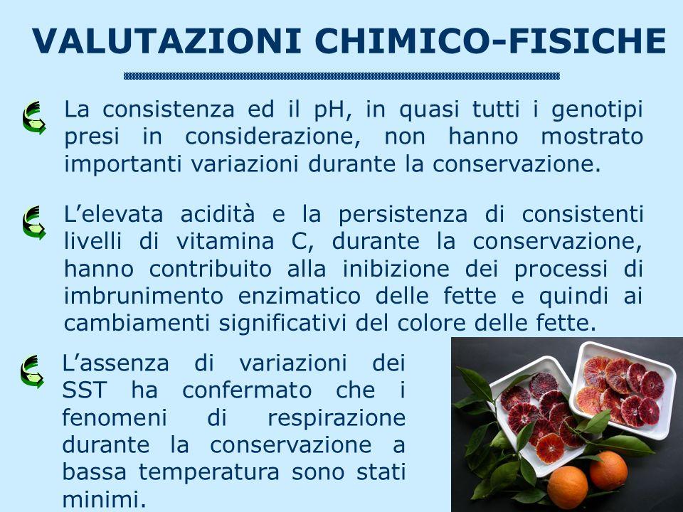 VALUTAZIONI CHIMICO-FISICHE