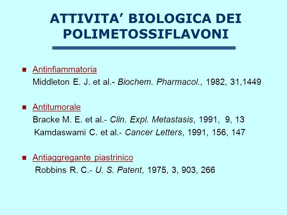 ATTIVITA' BIOLOGICA DEI POLIMETOSSIFLAVONI