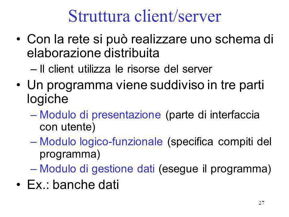 Struttura client/server