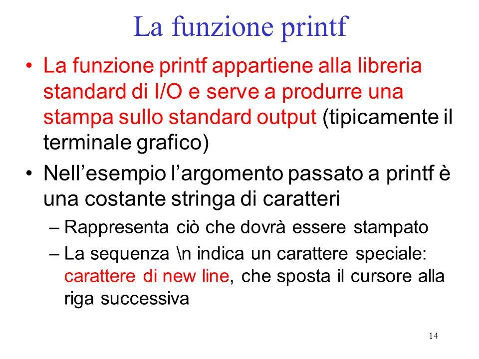 La funzione printf