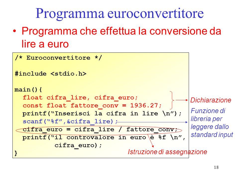 Programma euroconvertitore