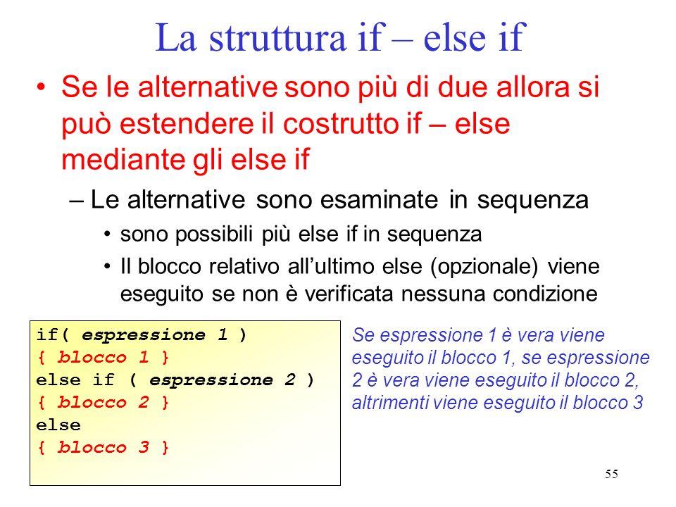 La struttura if – else if
