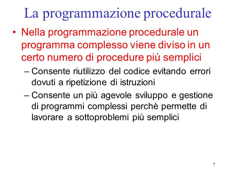 La programmazione procedurale