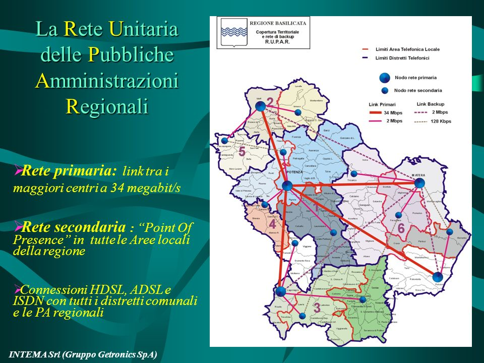 La Rete Unitaria delle Pubbliche Amministrazioni Regionali