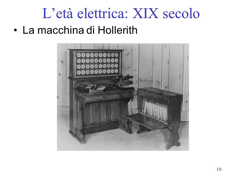 L'età elettrica: XIX secolo