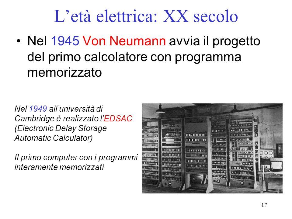 L'età elettrica: XX secolo