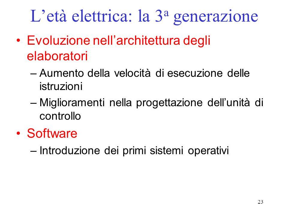 L'età elettrica: la 3a generazione