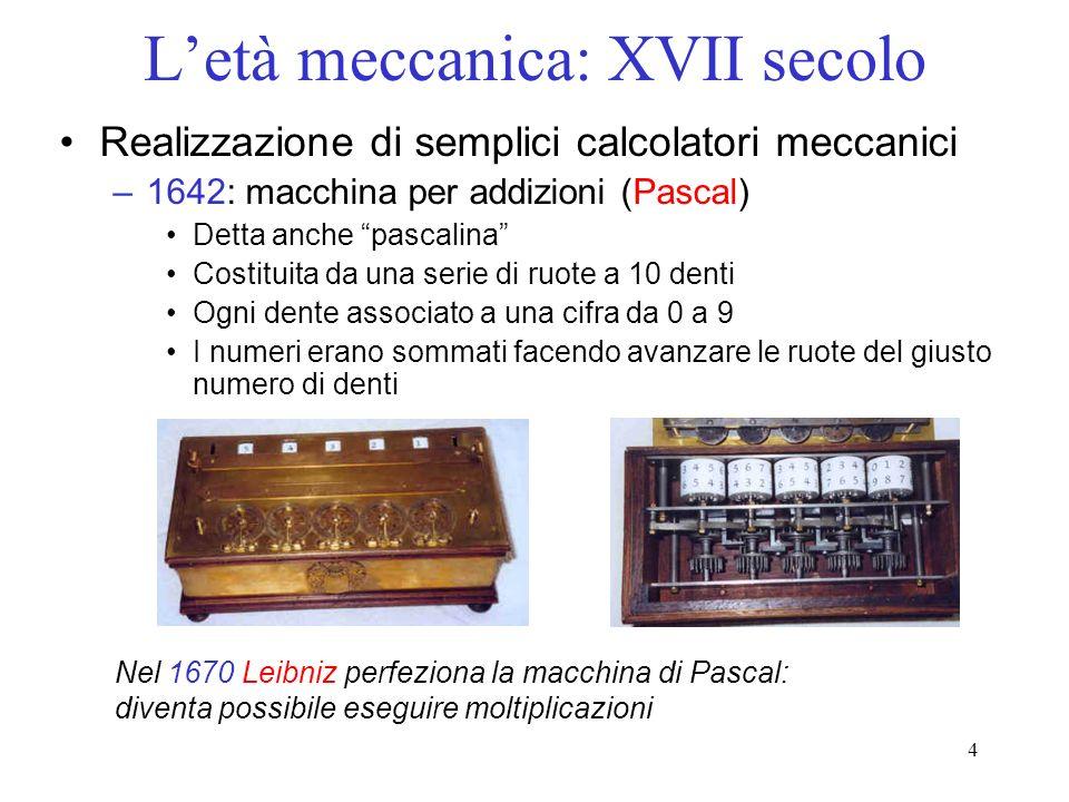 L'età meccanica: XVII secolo