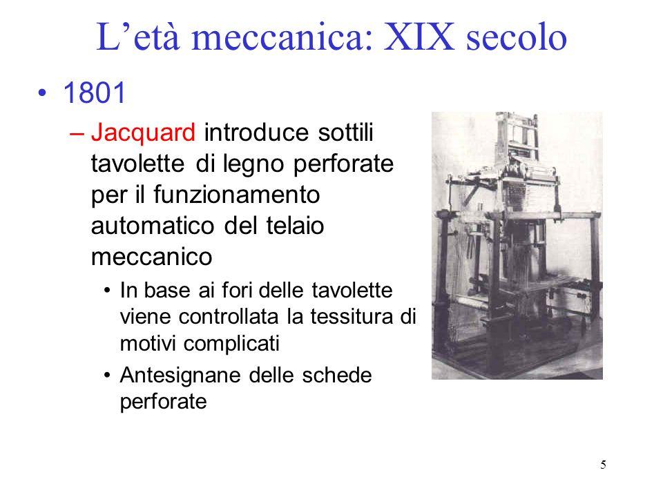 L'età meccanica: XIX secolo