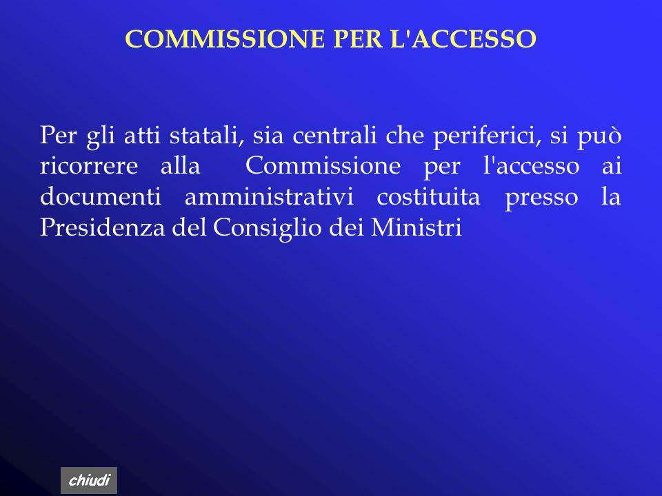 COMMISSIONE PER L ACCESSO