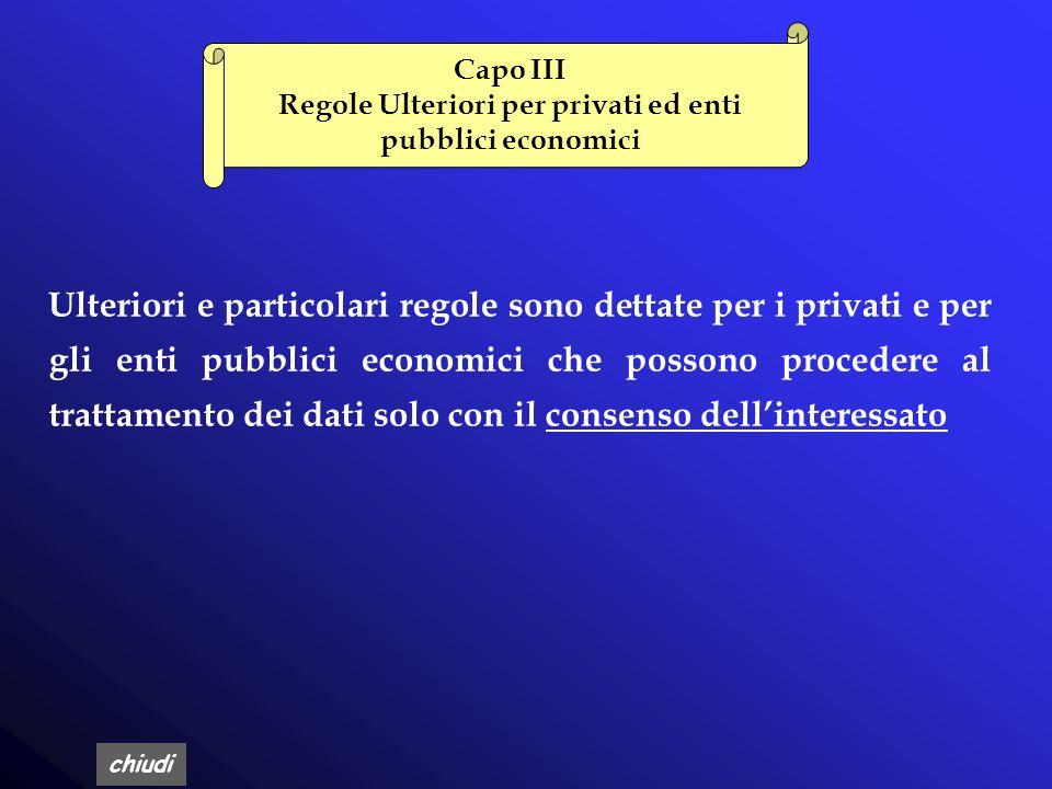 Regole Ulteriori per privati ed enti pubblici economici