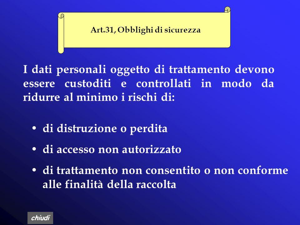 Art.31, Obblighi di sicurezza