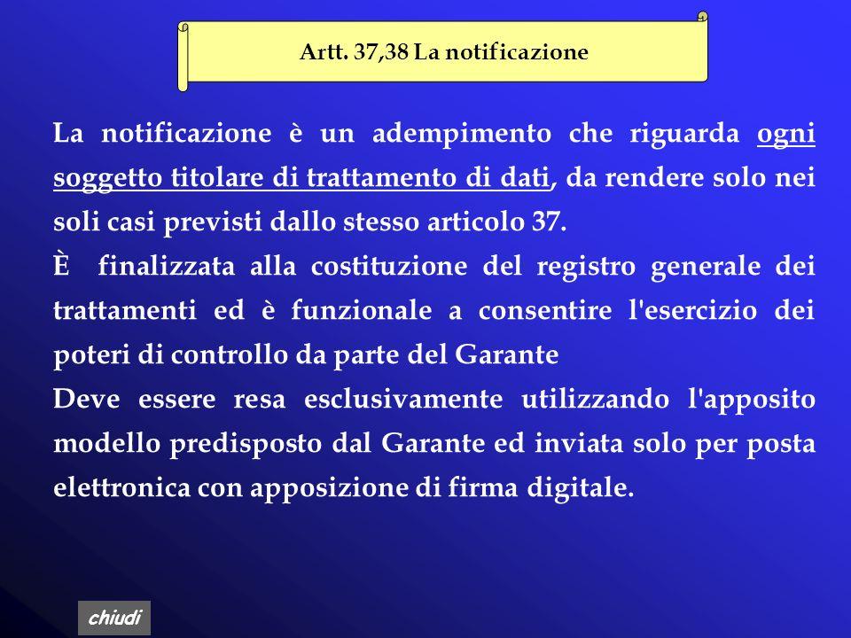 Artt. 37,38 La notificazione