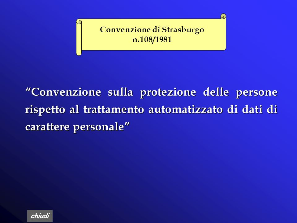 Convenzione di Strasburgo n.108/1981