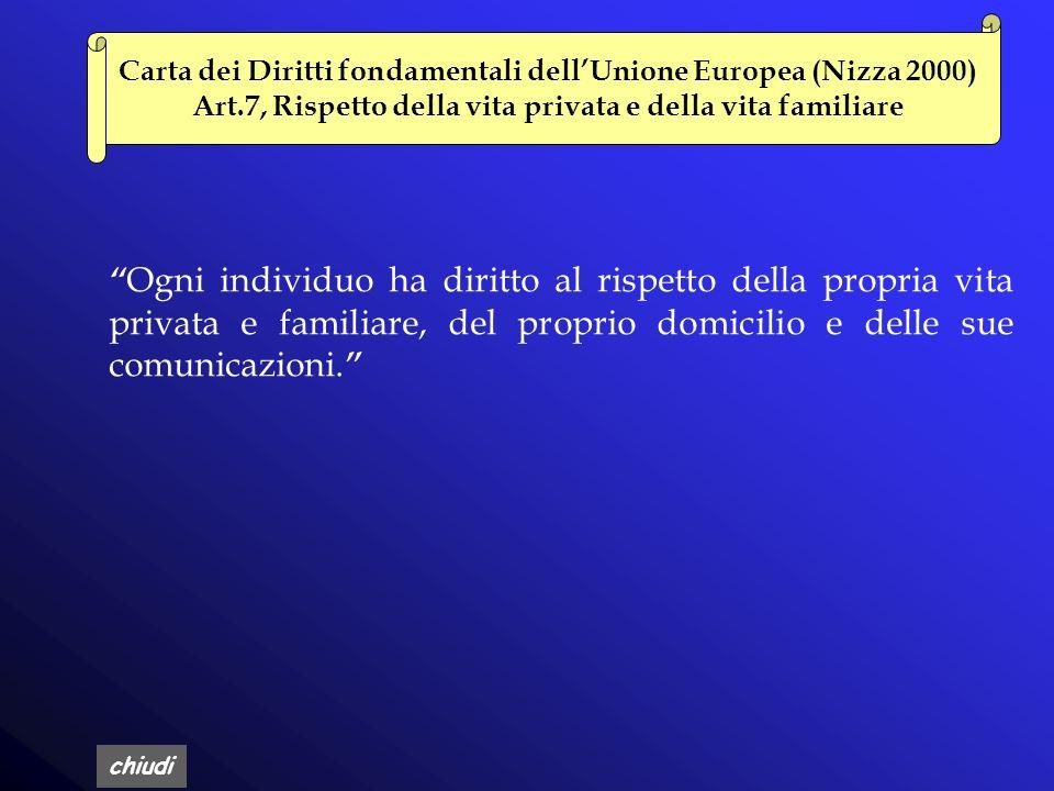 Carta dei Diritti fondamentali dell'Unione Europea (Nizza 2000)