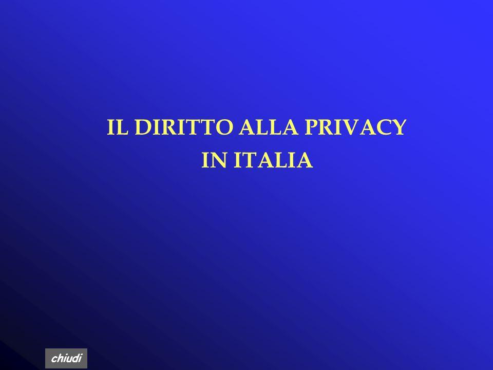 IL DIRITTO ALLA PRIVACY IN ITALIA