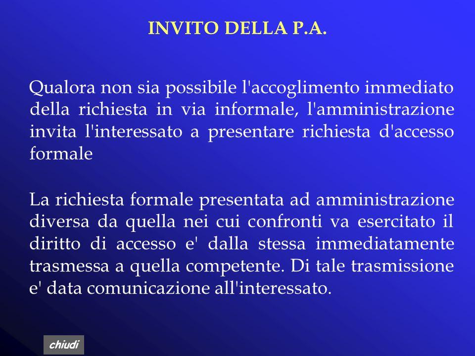 INVITO DELLA P.A.