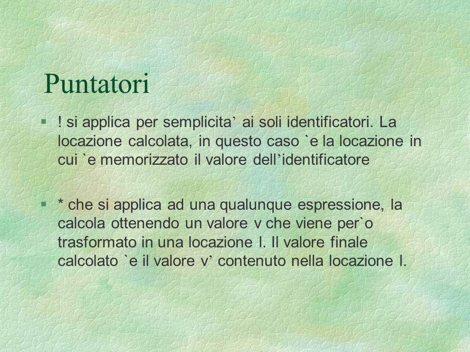 Puntatori