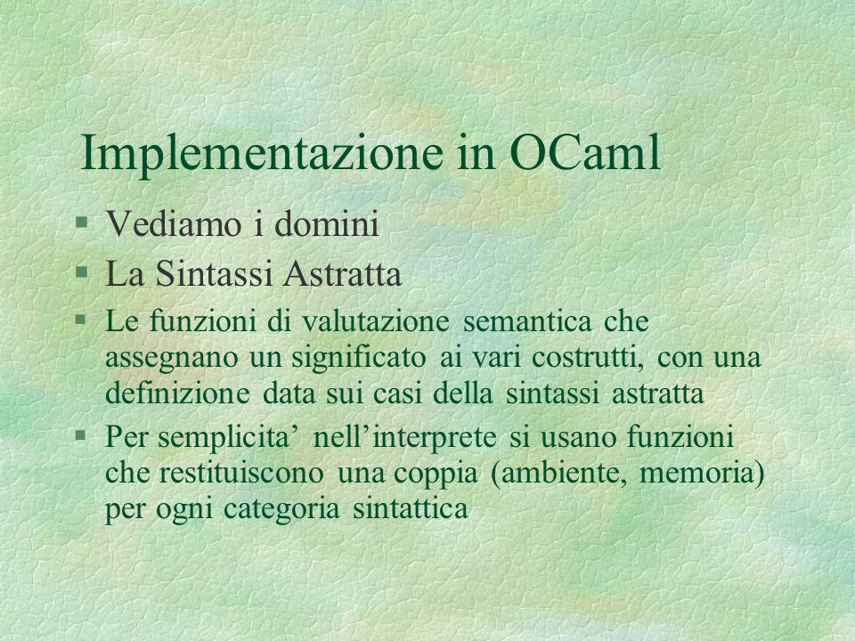 Implementazione in OCaml