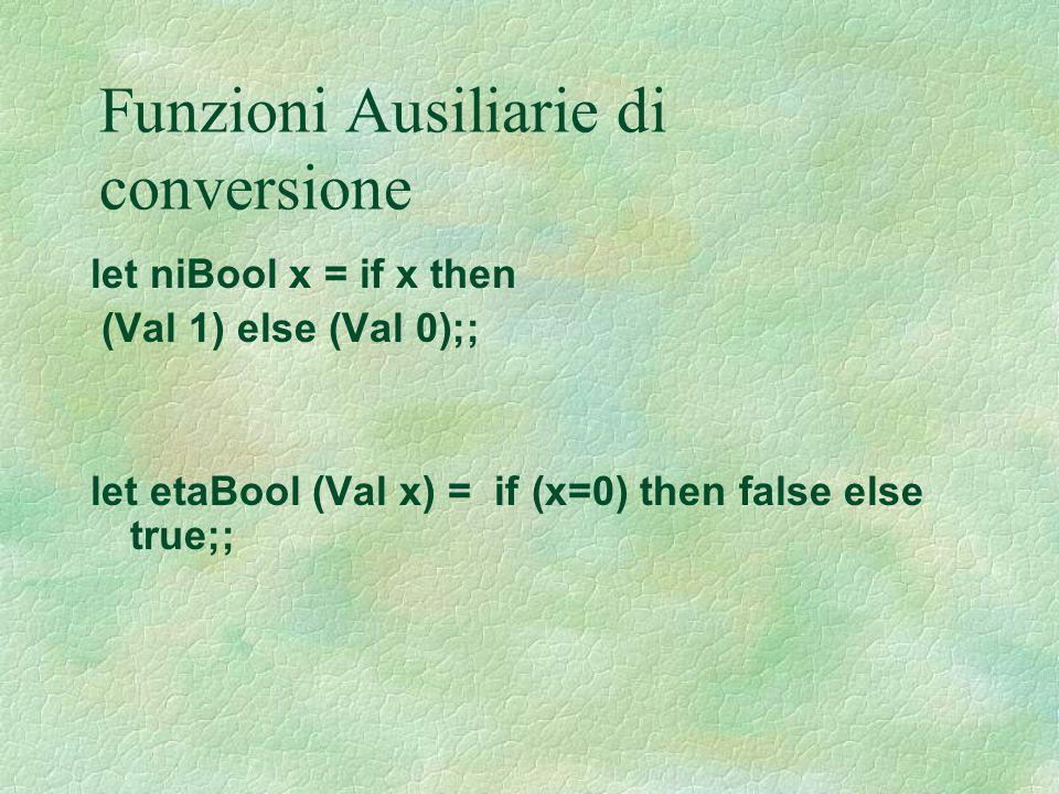 Funzioni Ausiliarie di conversione
