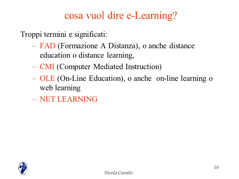 cosa vuol dire e-Learning