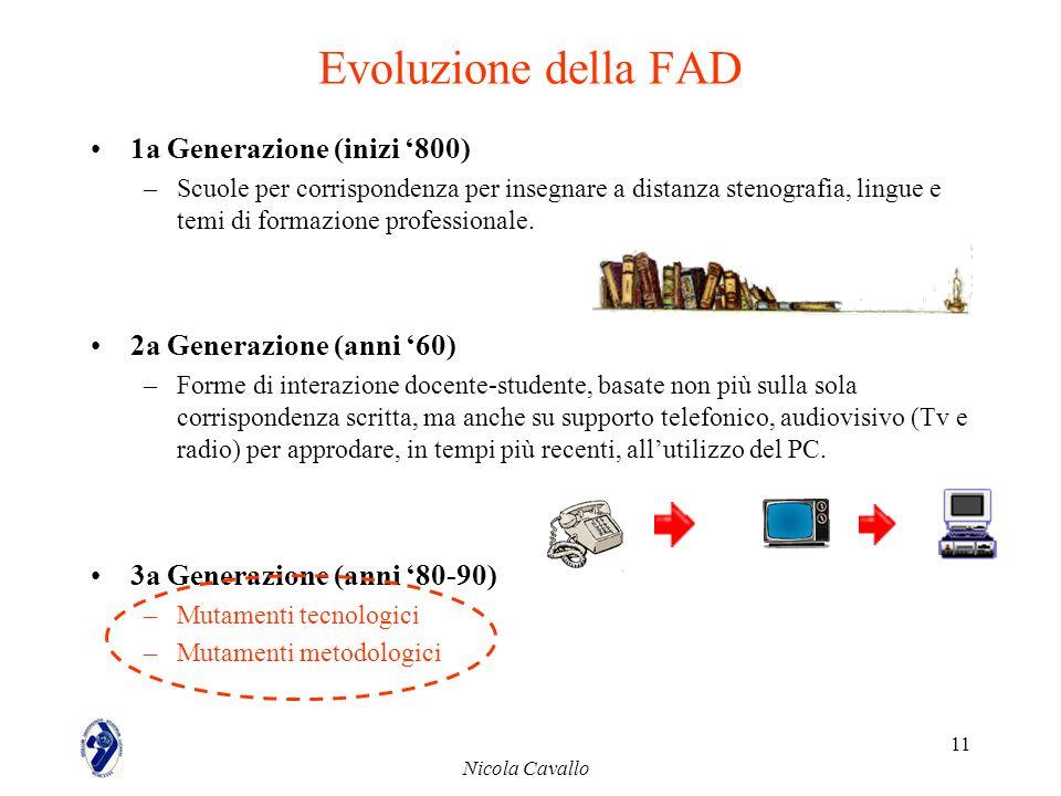Evoluzione della FAD 1a Generazione (inizi '800)