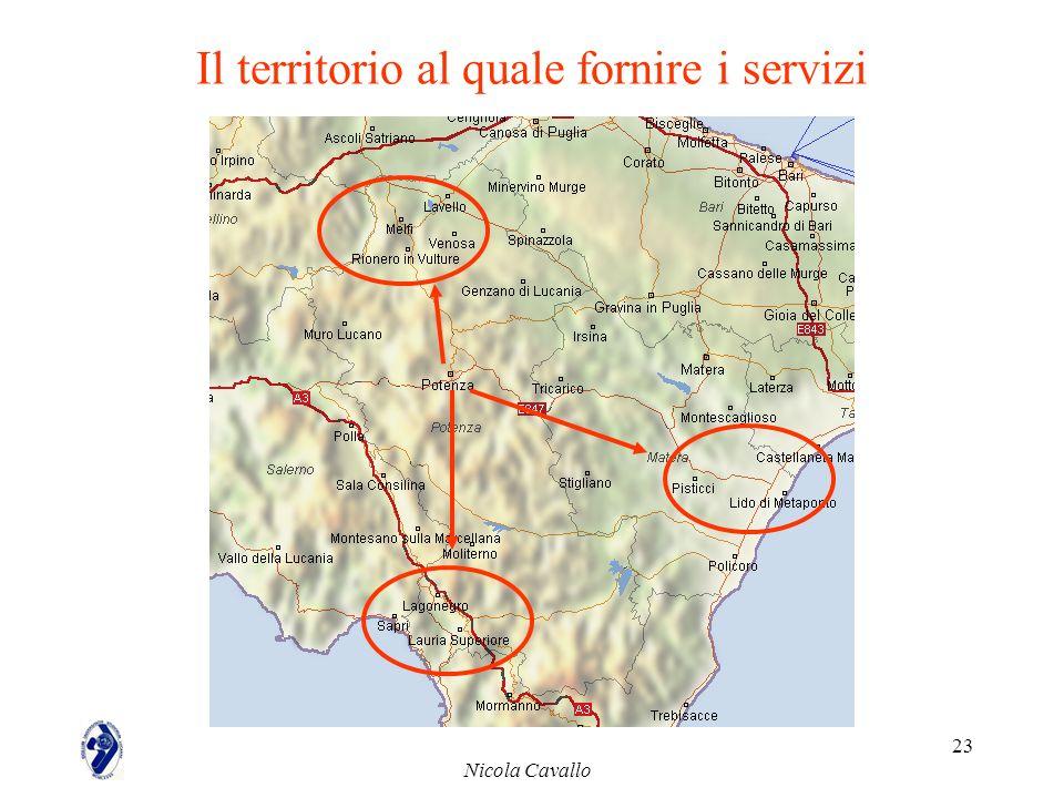 Il territorio al quale fornire i servizi