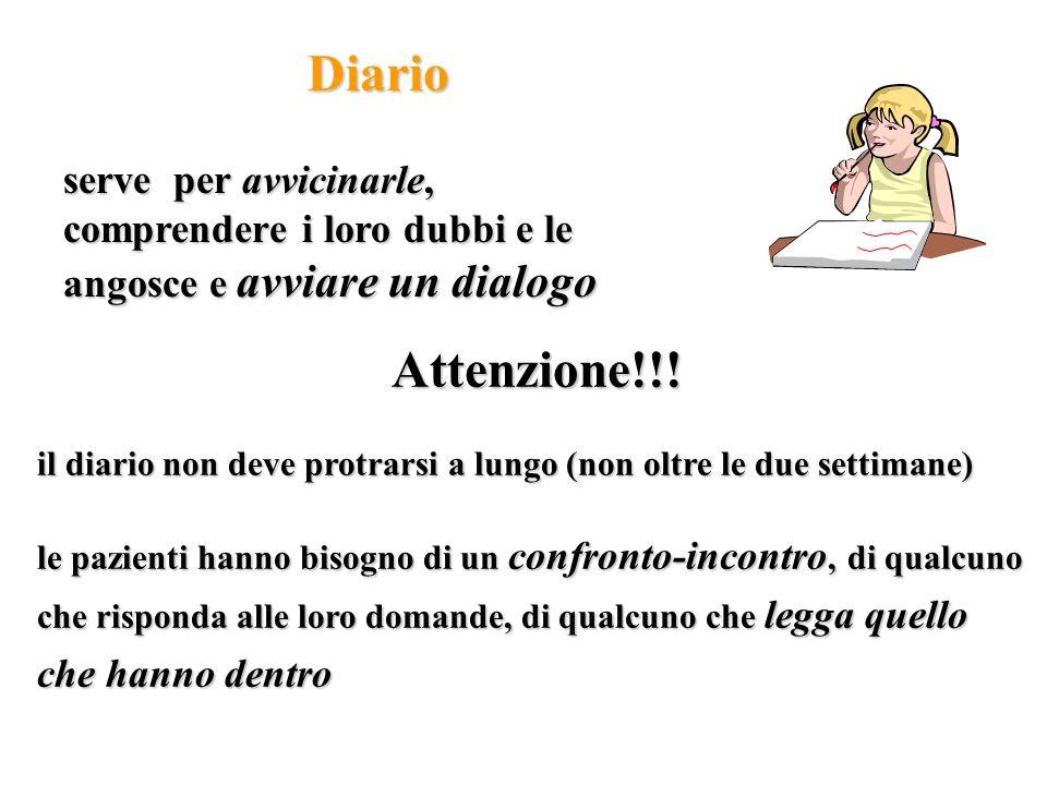 Diario serve per avvicinarle, comprendere i loro dubbi e le angosce e avviare un dialogo. Attenzione!!!
