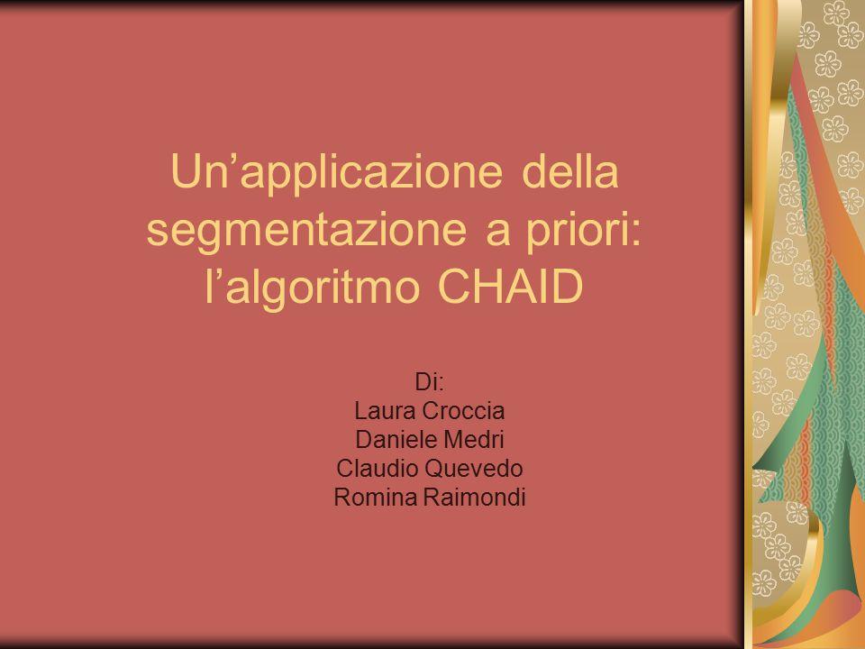 Un'applicazione della segmentazione a priori: l'algoritmo CHAID