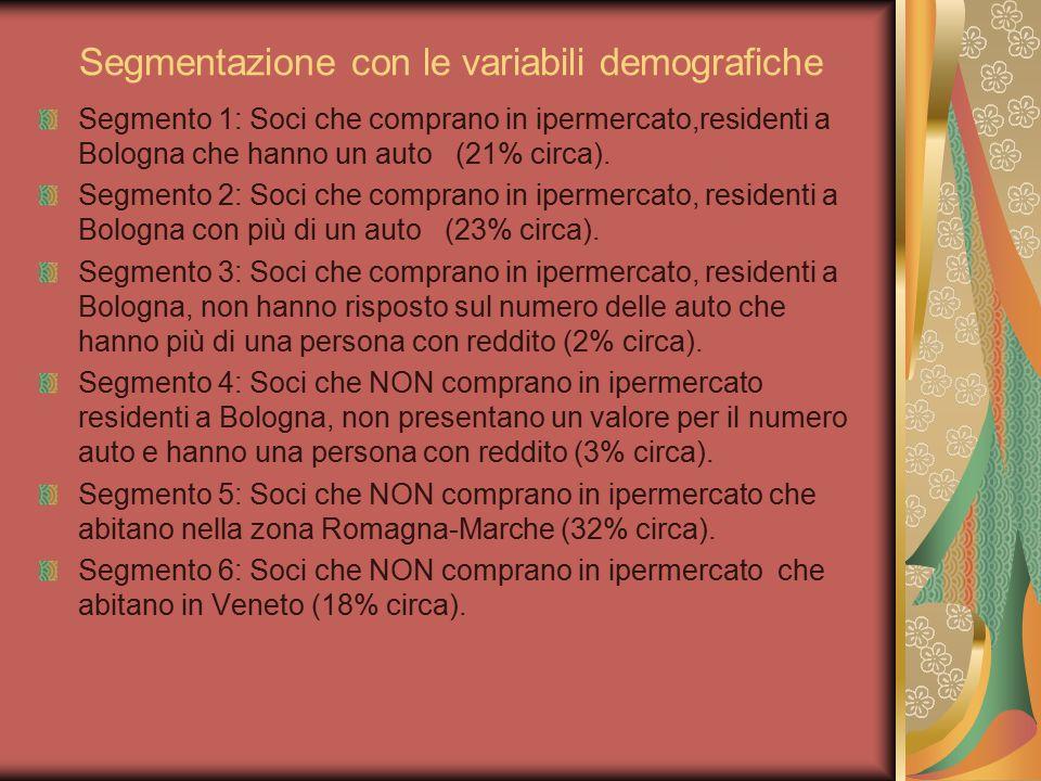 Segmentazione con le variabili demografiche