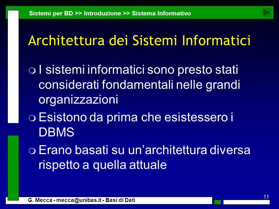 Architettura dei Sistemi Informatici