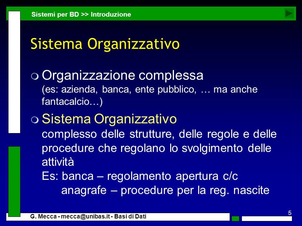 Sistema Organizzativo