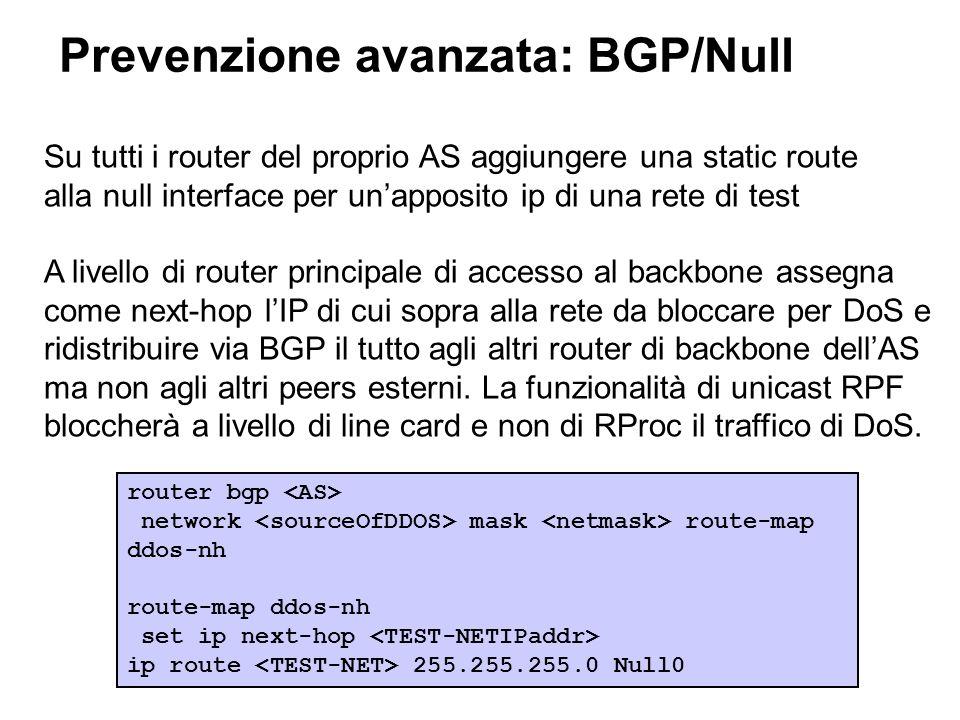 Prevenzione avanzata: BGP/Null