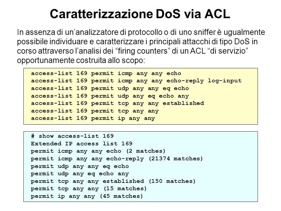 Caratterizzazione DoS via ACL