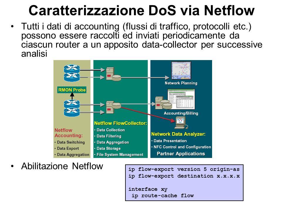 Caratterizzazione DoS via Netflow